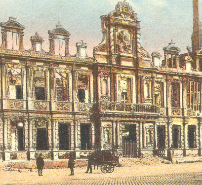 Reims1418 Ce qu'il restait de l'hôtel de ville