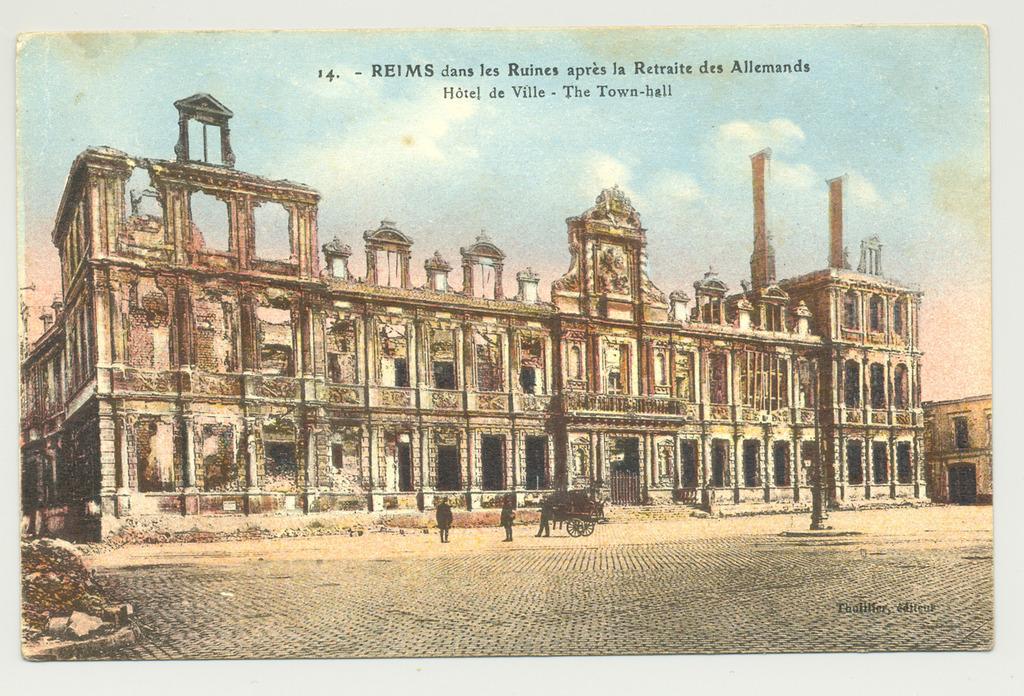Cartes postales 1914 1918 reims dans la grande guerre - Carte de visite reims ...