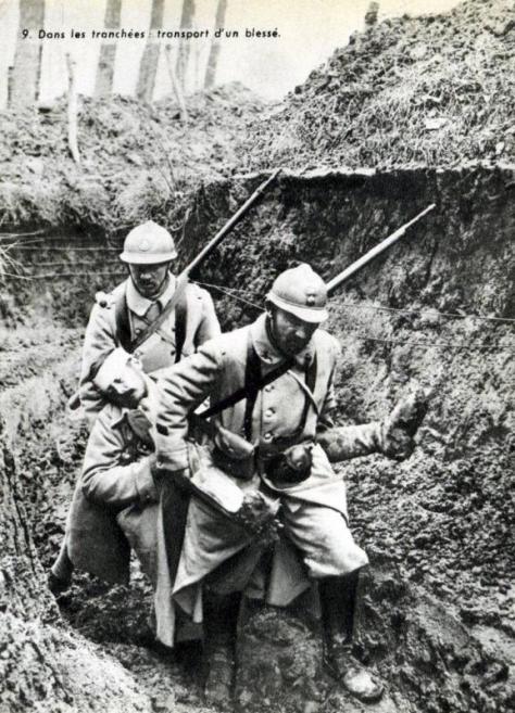 blessés tranchées Courcy