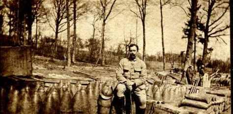 16 avril 1917 offensive dépôt d'obus de 220 et de 155 Blanc Sablon CH au