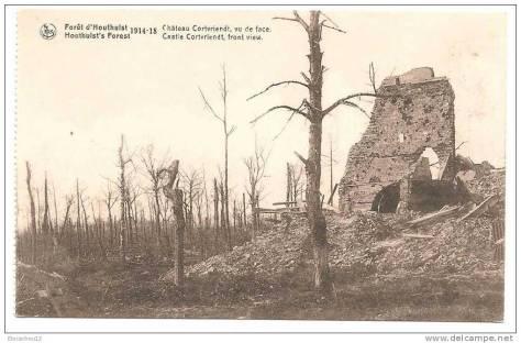 2FLANDRES OCT 1917forêt Houthulst le château Cortvriendt