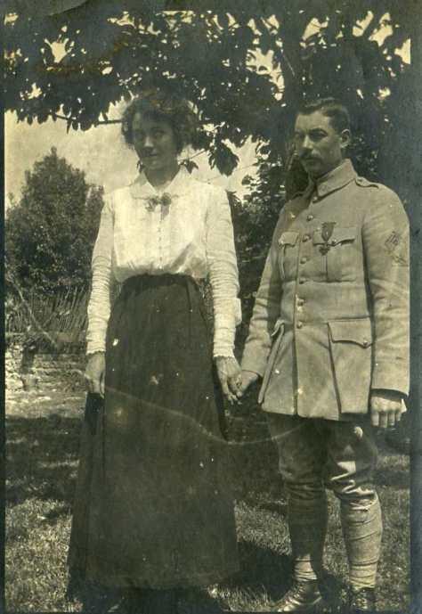Marie Delaye et Georges Gras se marient le 22 octobre 1917