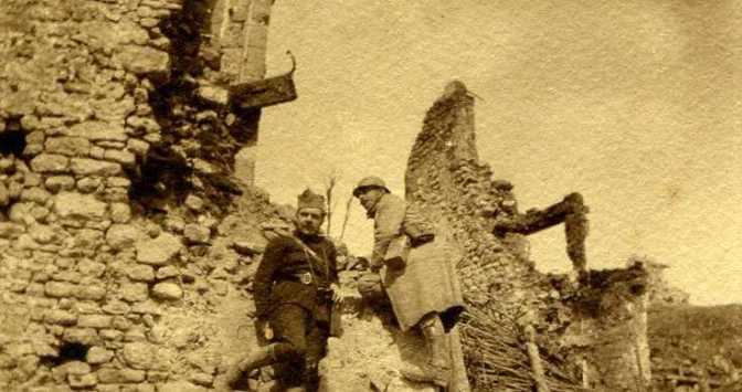 9/10 Georges Gras au Chemin des Dames pour l'offensive Nivelle