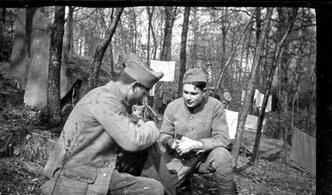 Mars 1917:  Montel et Delmotte (photo Georges Gras)