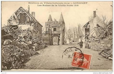 L'église de Longpont détruite par les Allemands