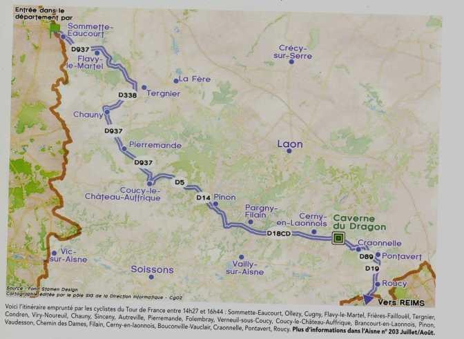 Tour de France: la grande boucle le 10 juillet sur le Chemin des Dames