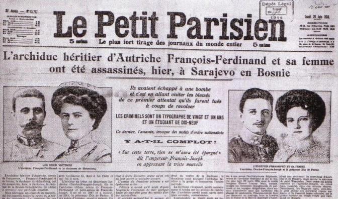 28 juin 1914: un attentat à Sarajevo va enflammer le monde