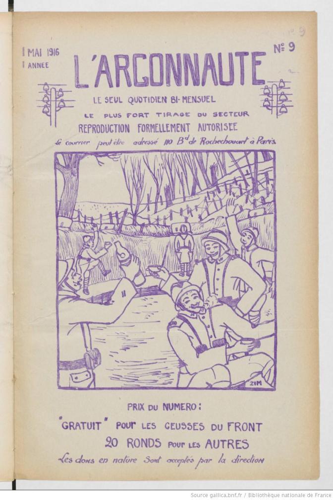 130 journaux des tranchées sur le site bnf Gallica