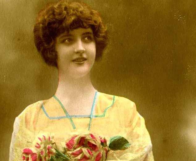 Carte postale: «un petit bouquet fait toujours plaisir»