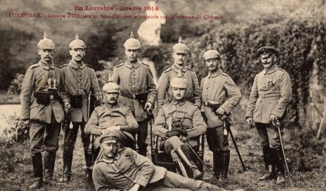 Les Allemands occupent Lunéville