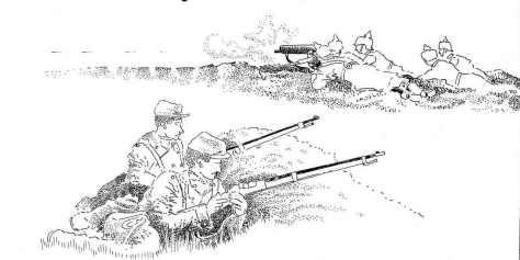 Dans la nuit du 23 au 24 septembre 1914 le lieutenant Cazamian, commandant la 5 ème compagnie du 138 ème régiment d'infanterie pénètre dans le fort de la Pompelle