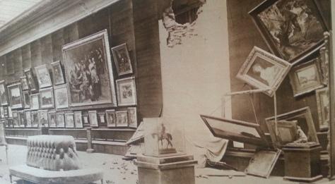 Le musée des Beaux Arts a aussi souffert terriblement des bombardements du 19 septembre 1914