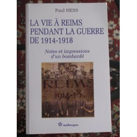 Hess-Paul-La-Vie-A-Reims-Pendant-La-Guerre-De-1914-18-Livre-888512570_ML