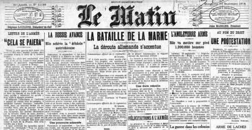 « En 1914, la presse accepte la censure parce que la France participe à l'effort de guerre »