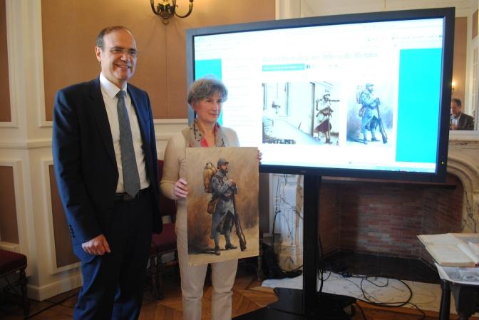 1/2 Les archives municipales de Reims partagent la mémoire de 1914-18 avec les internautes
