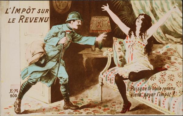 En 1914 l'impôt déjà !