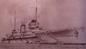 Le goeben qui sous le nom de Sultan Yavouz Selim bat maintenant pavillon turc (photo LE MIROIR23 aout 1914)