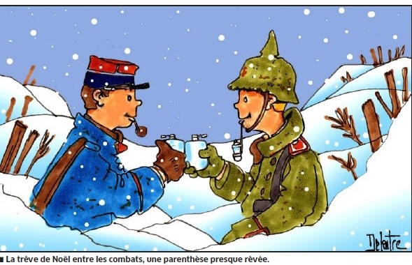 Témoignage: la fraternisation dans les tranchées de Noël 1914