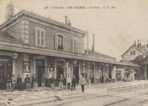 La gare de Laumes où l'étrange infirmière a été arrêtée.