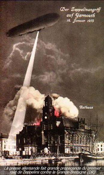 168/Journal du 19 janvier 1915: un zeppelin bombarde l'Angleterre