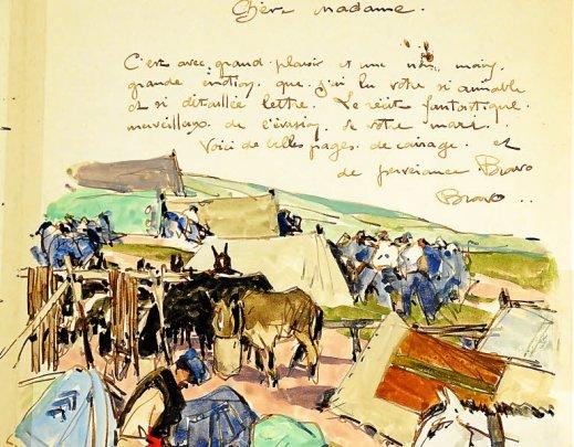 Des lettres-aquarelles de Mathurin Meheut aux enchères le 24 mars