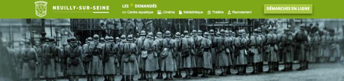 Neuilly-sur-Seine pendant la Grande Guerre