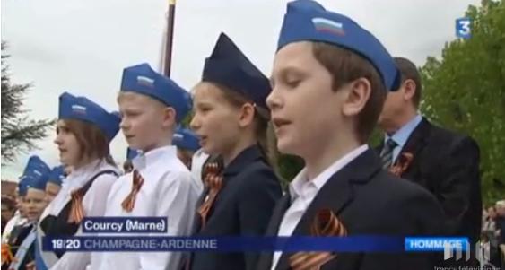 Courcy (Marne) : inauguration d'une statue offerte par la Fédération de Russie