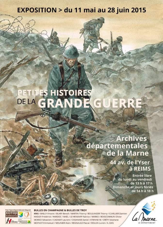 Jusqu'au 28 juin : 20 dessinateurs planchent sur la grande guerre aux archives départementales à  Reims