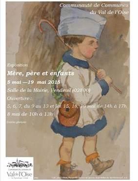 Jusqu'au 19 mai à Vendeuil (O2) expo: «Mère, père et enfants»