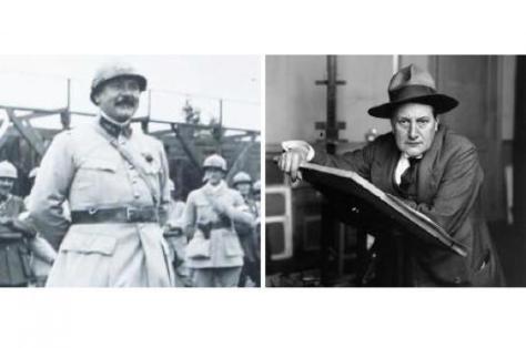 Le peintre Lucien-Victor Guirand de Scévola (à gauche) est à l'origine de la première unité de camouflage, dont le dessinateur de presse Jean-Louis Forain (à droite) a fait partie.