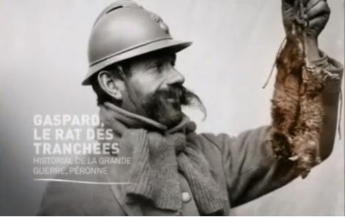 Il y a cent ans, Gaspard (le rat) ,  le roi des tranchées
