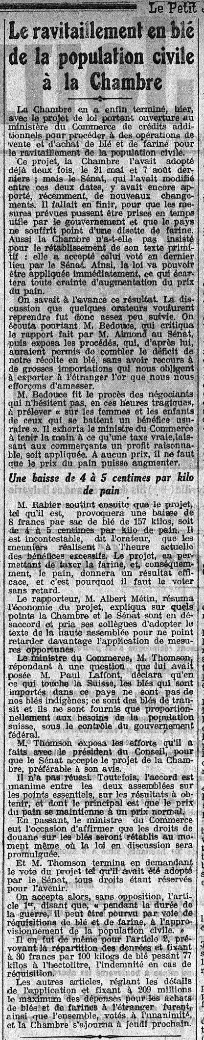 Reims 1914 1918 reims dans la grande guerre page 4 for Le miroir de la disette