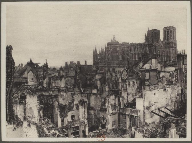 570/journal du 24 février 1916: faut-il reconstruire la cathédrale de Reims?