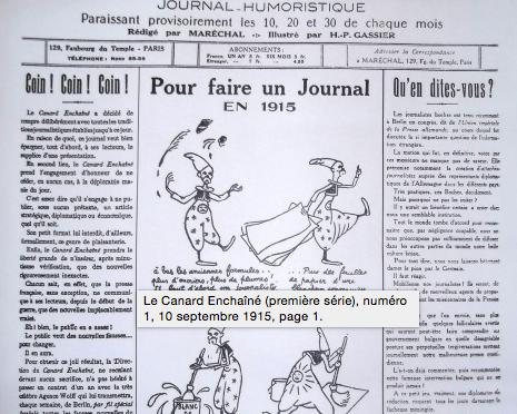 701/journal du 5 juillet 1916: le canard enchaîné devient hebdomadaire