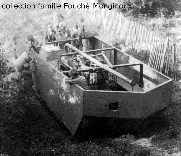 729/1 août 1916:  essai du premier prototype du char Saint-Chamond