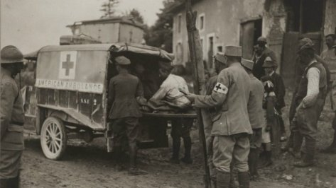 main ambulance americaine verdun