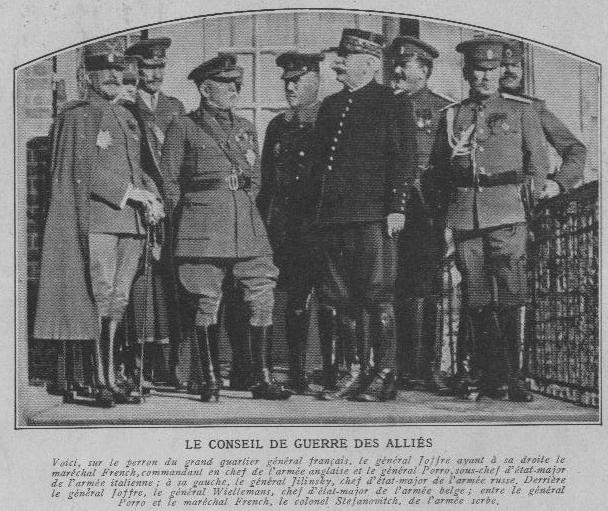 836/16 novembre 1916: à Chantilly, l'attaque de Craonne pressentie