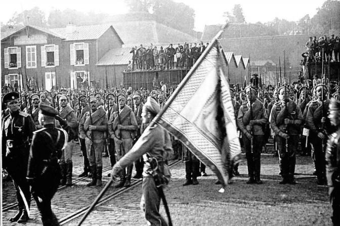 852/2 décembre 1916: la 3 ème brigade russe sur le front de Champagne
