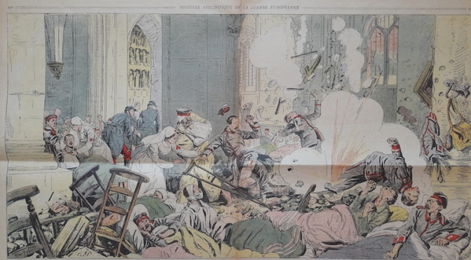 Une image du bombardement de la cathédrale de Reims trouvée dans «le Petit marseillais»