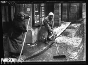 Guerre 1914-1918. La fonte des neiges à Paris, le 8 mars 1917.