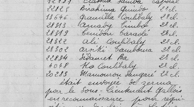 933/21 février 1917: hécatombe  de soldats maliens du 26è BTS t à Plagia (Grèce)