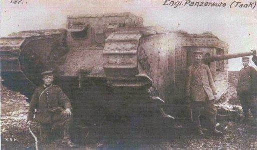 982/11 avril 1917: intervention peu connue, les tanks anglais dans les combats de Bullecourt