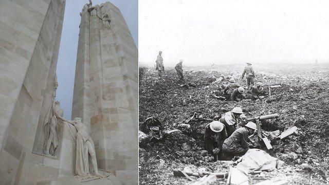 980/9 avril 1917: la bataille de la crête de Wimy ou d'Arras (Pas de Calais)