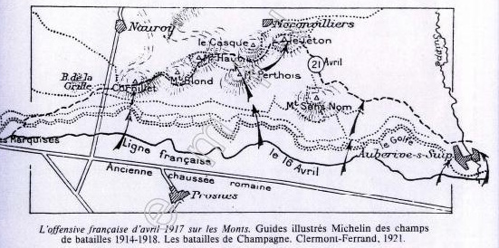 1009/ 8 mai 1917: 2.- L'enfer du Mont Cornillet (Marne)