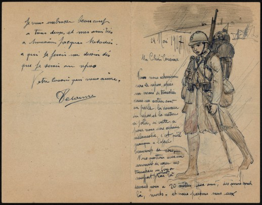 1025/24 mai 1917: un artiste au front : Raphaël Delorme