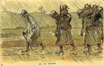 1034/2juin 1917:  les mutineries de Coeuvres arborent le drapeau rouge