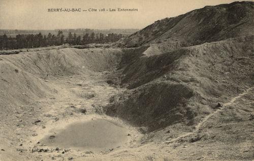 1032/31mai 1917: explosion d'une sape à la Côte 108 de Berry-au Bac (Aisne)