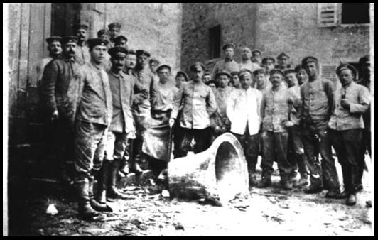1100/7 août 1917: enlèvement de la cloche de Martincourt-sur-Meuse
