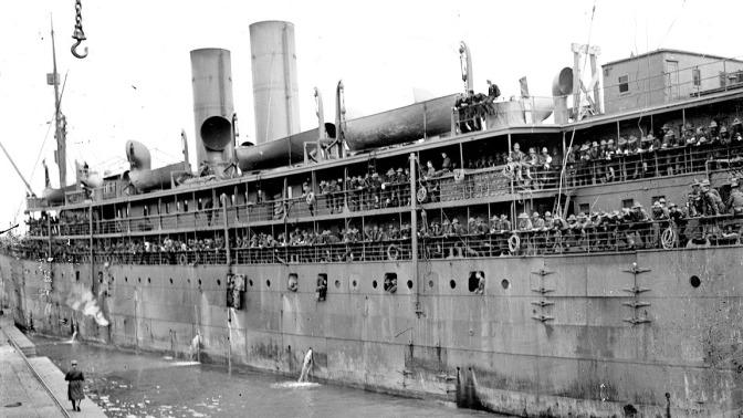 1046/14 juin 1917: 200.000 américains appareillent de New-York