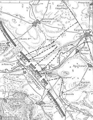 1137/13 septembre 1917: avec le 4 ème régiment d'Infanterie à Juvincourt (Aisne)